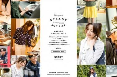 STEADY FOR LIFE 絵美里と彼のTOKYOデートスタイル