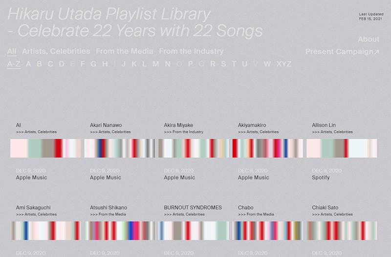 Hikaru Utada Playlist Library